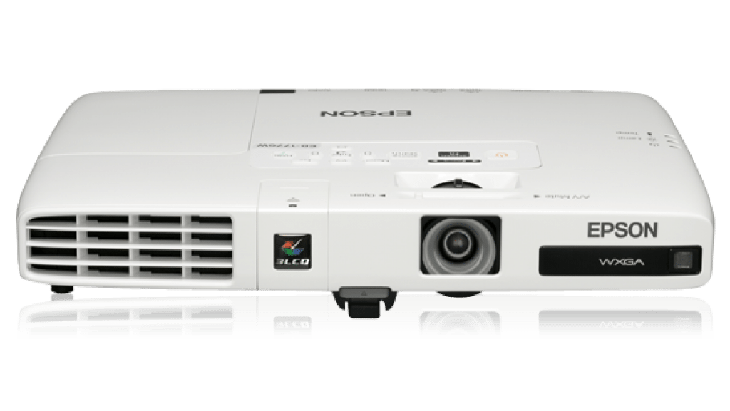 white image of the Epson projector
