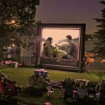 How to set up outdoor movie theater