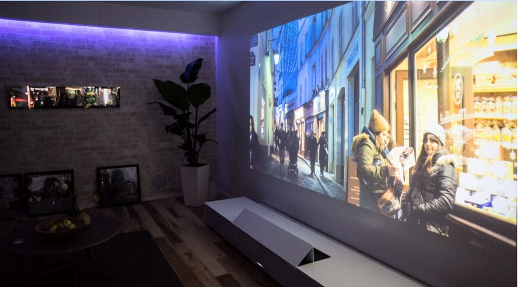 image of a gaming projector setup
