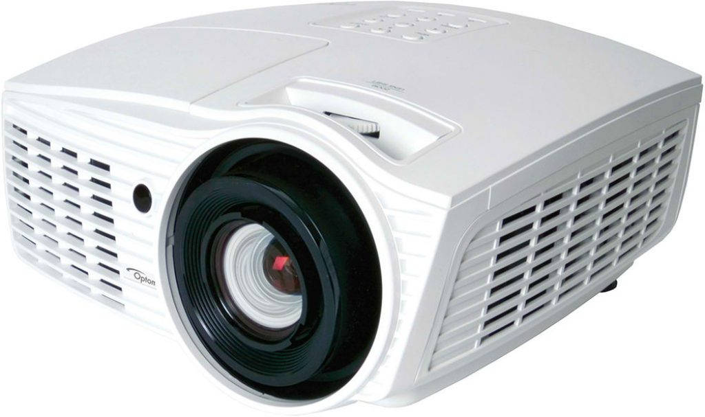 image of the optoma white projector