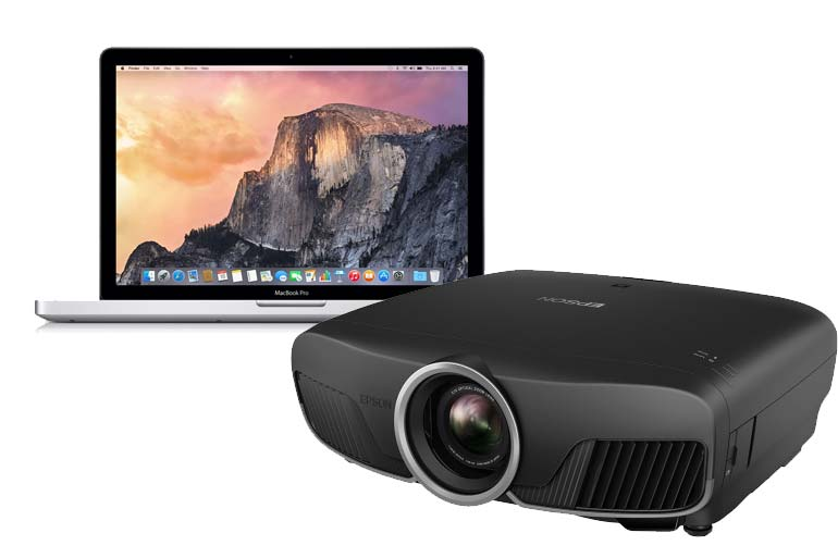 mac laptop projector