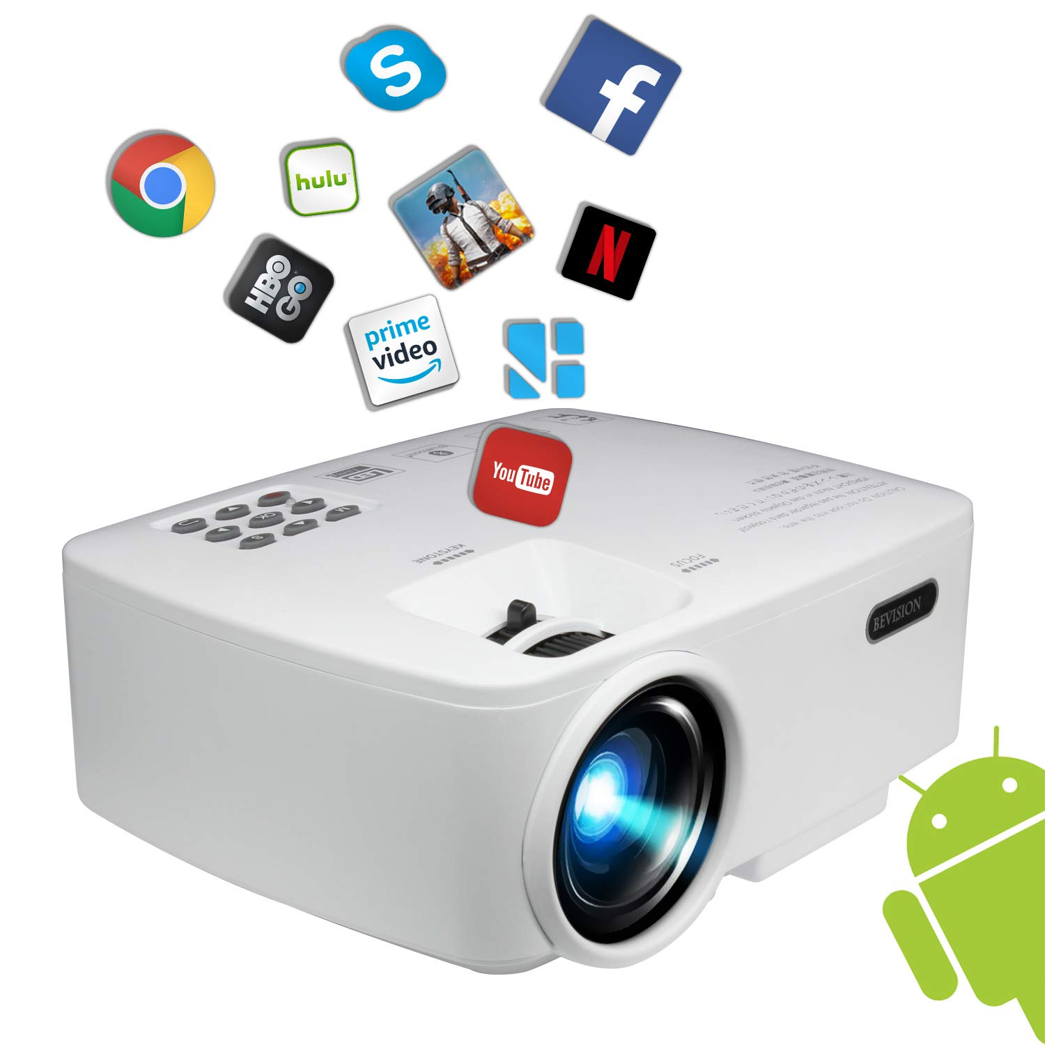 BeVision Smart Bluetooth Video Projector