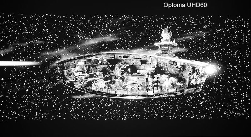 optoma uhd60 in black and white images