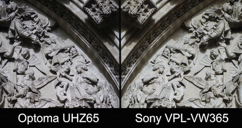 optoma uhz65 vs sony vpl-vw365