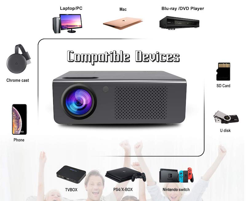 Artlii Home Theater Projector compatible devices