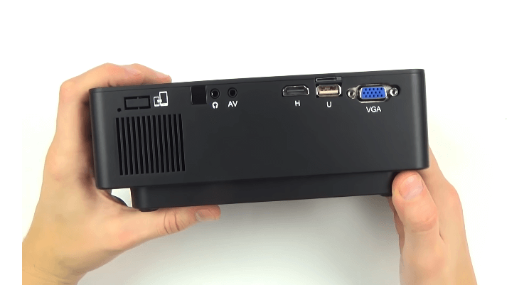 Excelvan E09 Projector backview