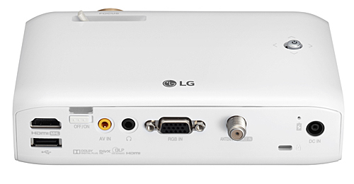 LG PH550 projector backview