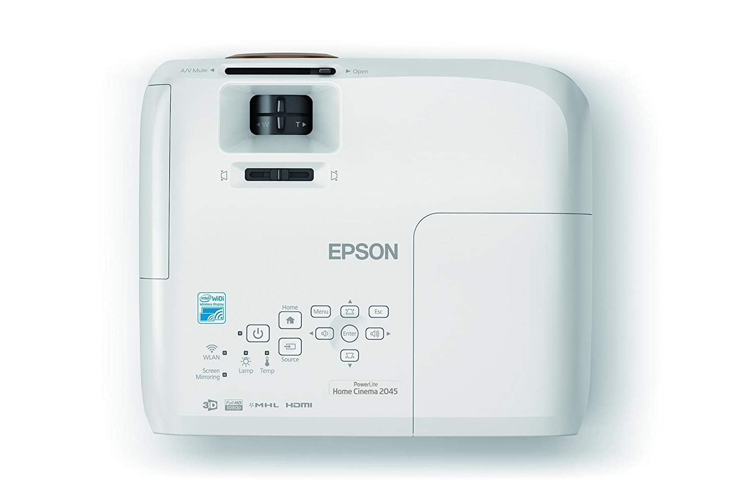 epson 2045 projector top view