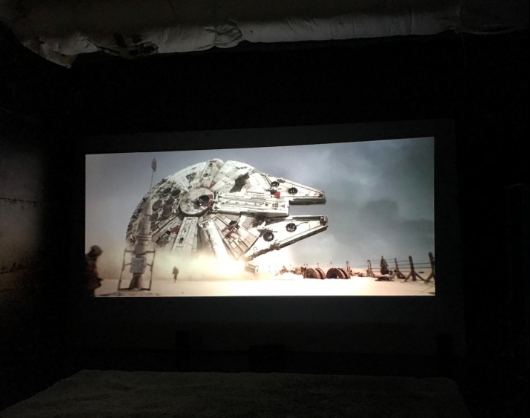 epson 2045 star wars movie viewing