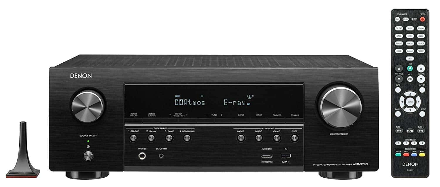 Denon AVR-S740H Receiver With A Remote