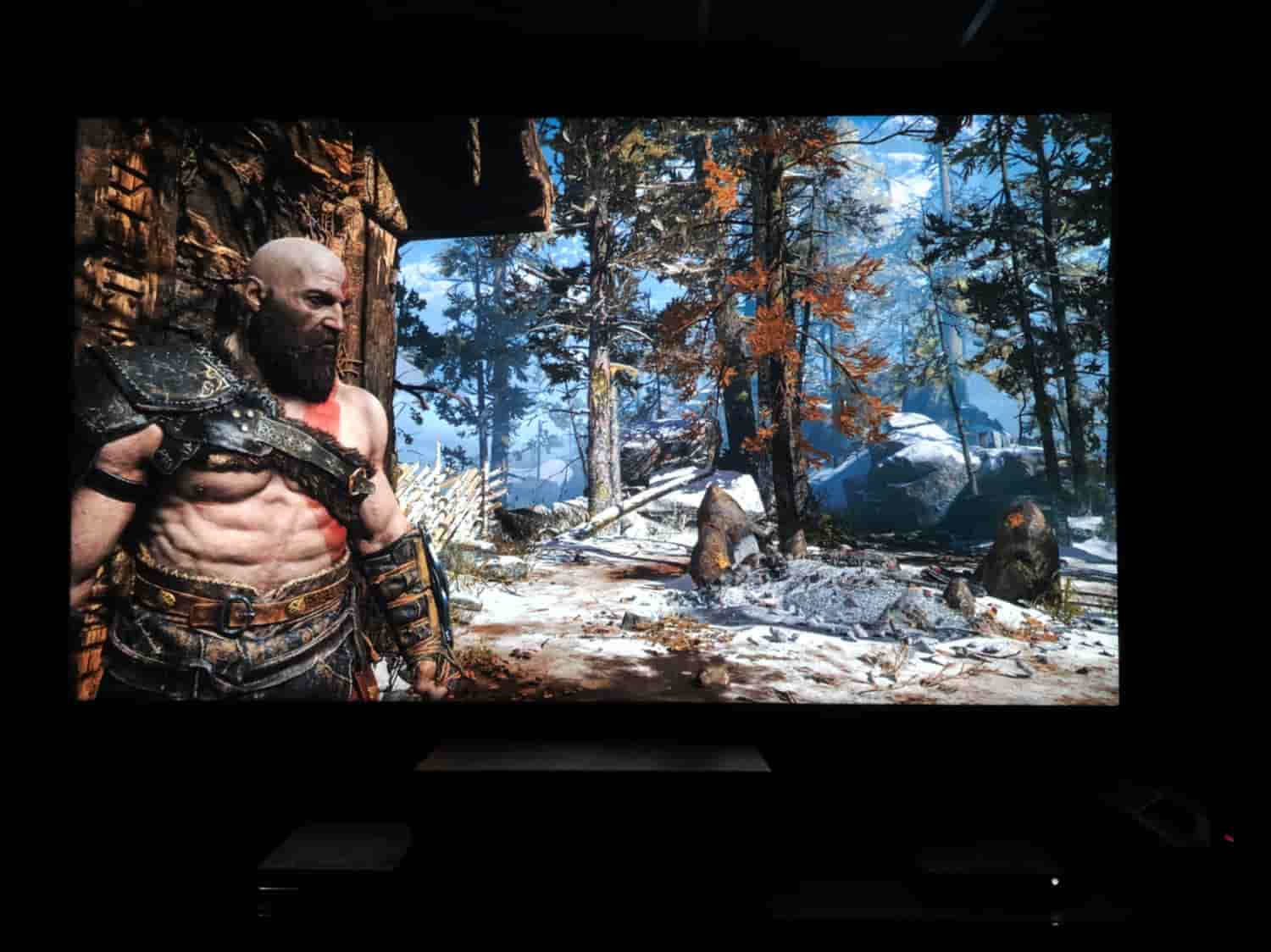 Epson Home Cinema 5040UB Projecting God Of War