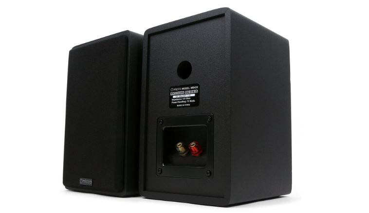 Micca MB42X Bookshelf Speakers Back