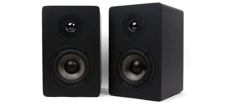 Micca MB42X Bookshelf Speakers Front