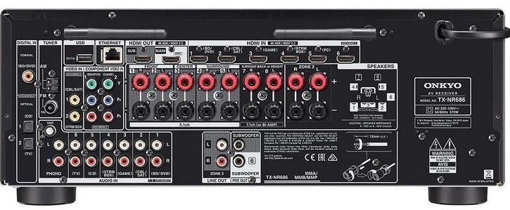 Onkyo TX-NR686 Receiver Back