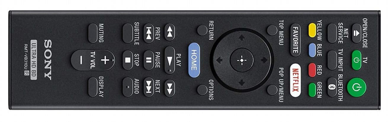 Sony UBP-X800 Player Remote