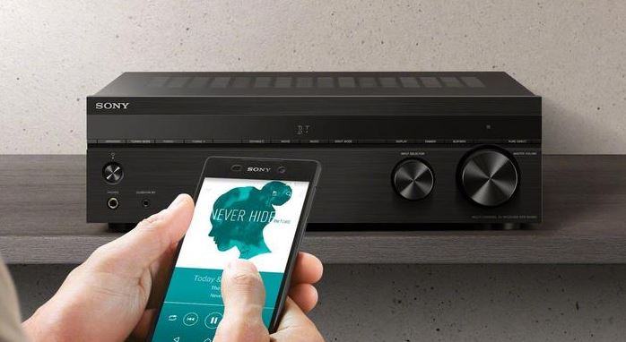sony receiver and mobile
