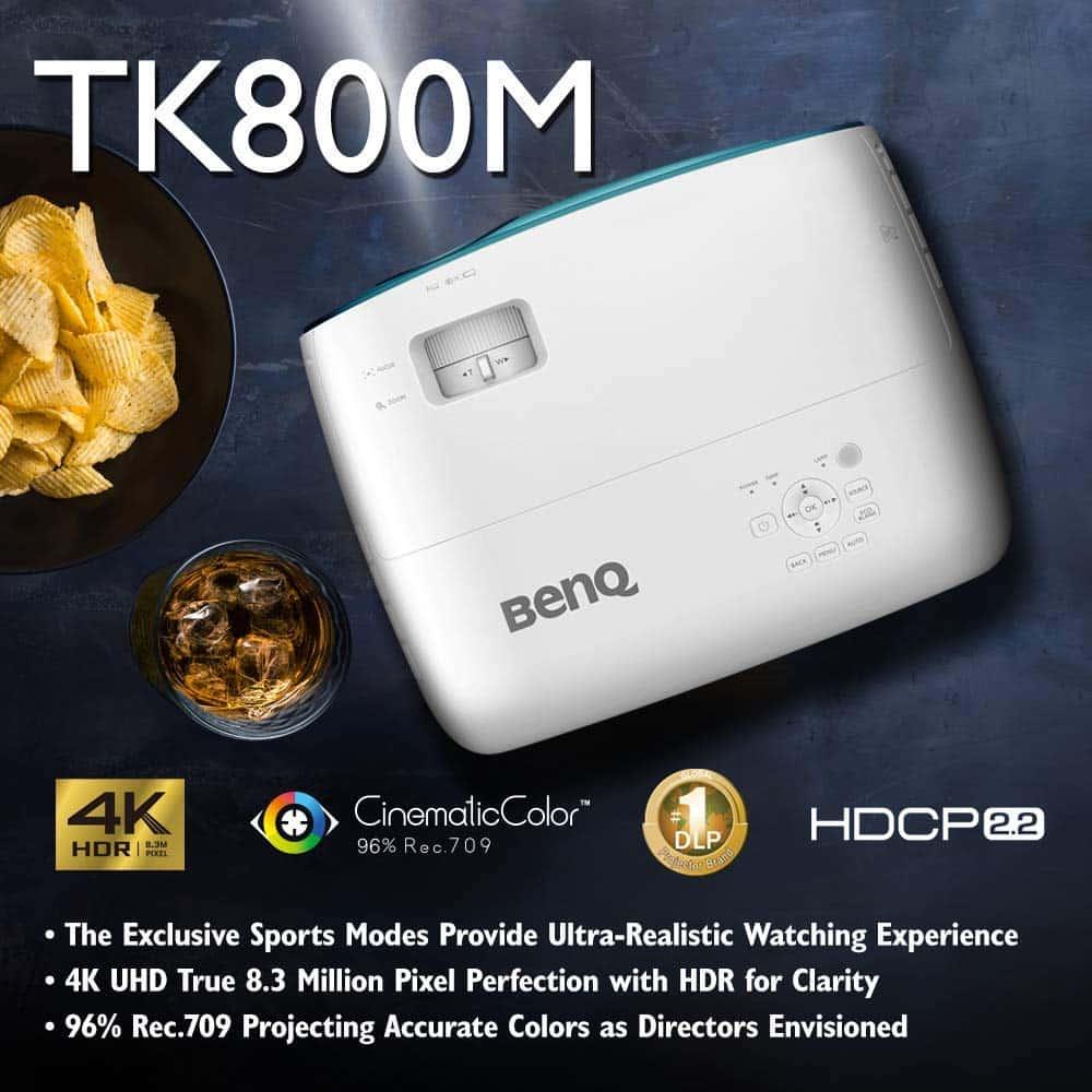 BenQ TK800M 4K Sports Projector Top