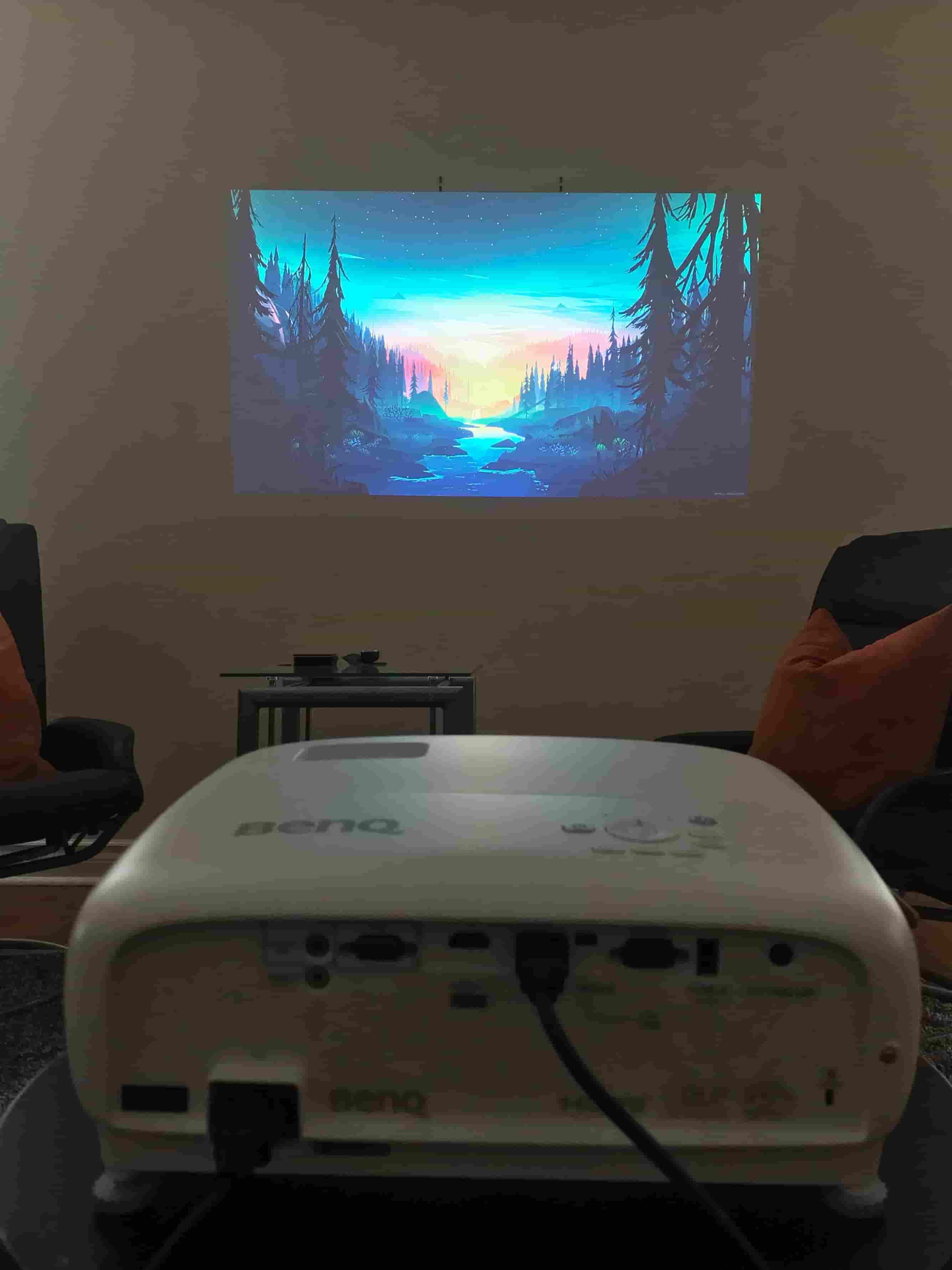 BenQ TK800M 4K Sports Projector projecting an image