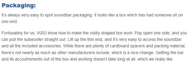 VIZIO SB3851 packaging