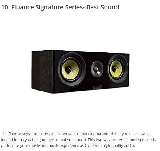 fluance signature series center channel speaker