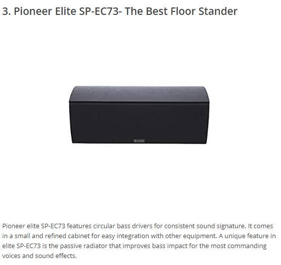 pioneer elite sp ec73 center channel speaker