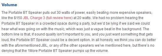 1More Portable BT Speaker volume
