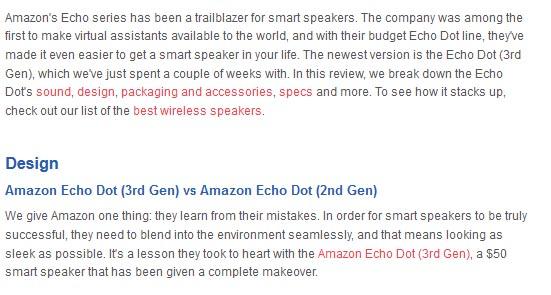 Amazon Echo Dot Design