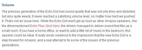 Amazon Echo Dot volume