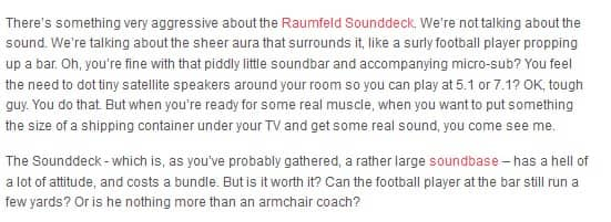 Raumfeld Sounddeck review intro