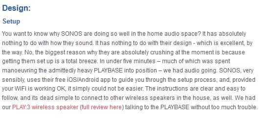 Sonos Playbase design