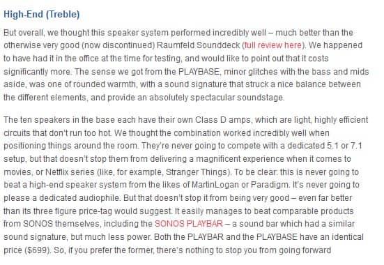 Sonos Playbase high-end