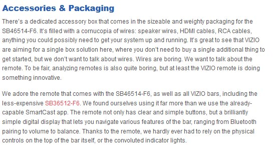VIZIO SB46514-F6 accessories and packaging