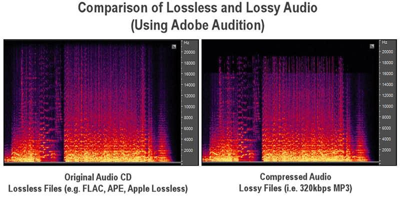 lossless and lossy audio