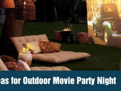 Ideas for Outdoor Movie Party Night